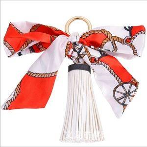 Accessories - Ribbon and tassel handbag charm or keychain